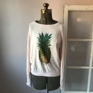 NWOT Wildfox Pastel Pink Pineapple Sweatshirt